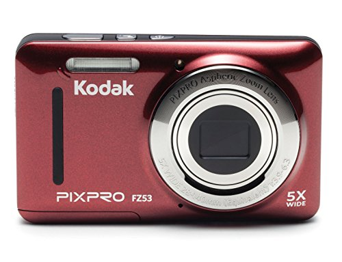 Kodak PIXPRO Friendly Zoom FZ53-RD 16MP Digital Camera with 5X Optical Zoom and 2.7' LCD Screen (Red)